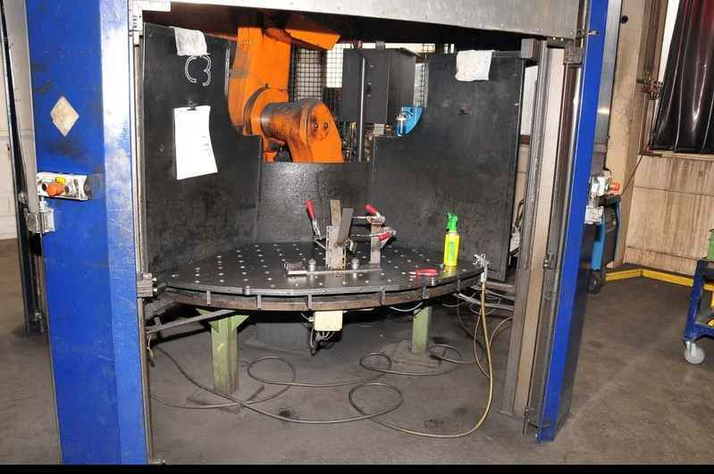 Robot welding machine CLOOS ROMAT 310 mit ROTROL 32 TM used buy P0041031
